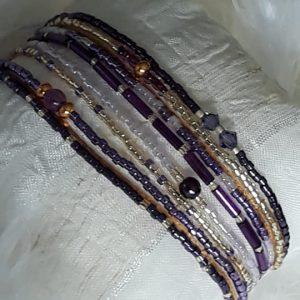 Bracelet Miyuki mauve